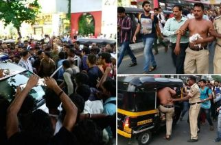 The crowd ensured that the rickshaw drivers were detained by cops (Picture Courtesy: Binu Varghese)