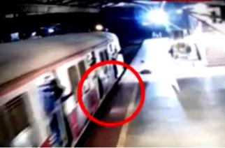 Video: 23-year-old falls in gap between train and platform at Kalwa station