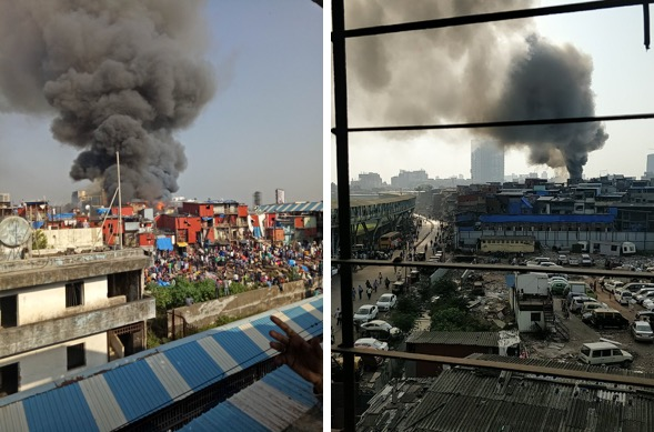 Mumbai fire: Major blaze near Bandra station caught on camera