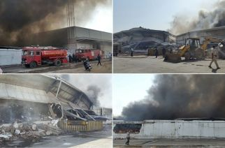 Pictures from the Bhiwandi warehouse fire. Courtesy: Binu Varghese