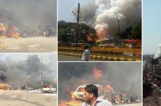 Images of the Aurangabad firecracker market incident. Courtesy: Rohan Salve