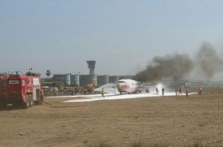 Authorities carrying out the mock drill at Chhatrapati Shivaji International Airport. Picture Courtesy: Sameer Karve