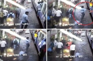 The accused told cops that he had thrown the chilli powder to take revenge from commuters who had tried to bully him over seats earlier (Screengrabs from the video)