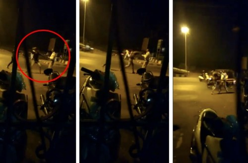 Danish Shaikh was arrested and produced in court on Tuesday (screengrabs from the video)
