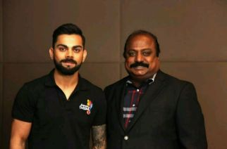 India's test captain Virat Kohli and Chairman of Premier Futsal -Xavier Britto