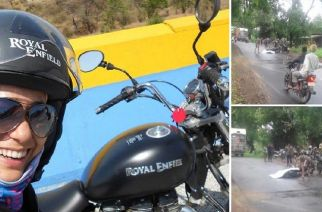 Hogale fell on her bike after hitting a pothole on the Jawhar-Dahanu highway (Jagruti Hogale, Picture Courtesy: ABP Majha)