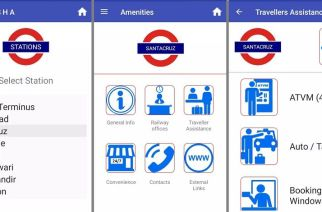 Screenshots from Western Railway's DISHA app
