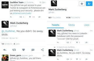 A Twitter conversation from the hacked account. Picture Courtesy: Engadget