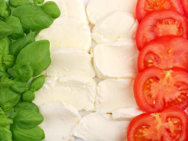 tricolore salad italian flag