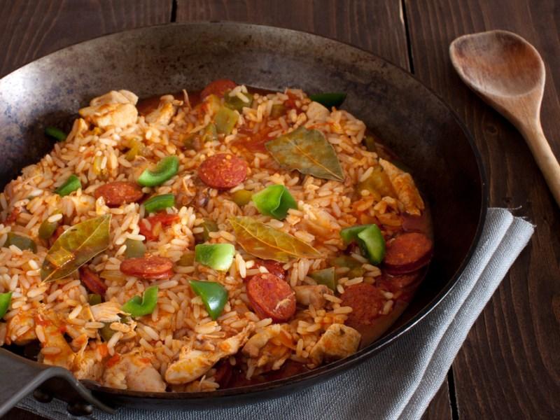 rice,sausage, fruit, nuts, recipe, Plano Profile