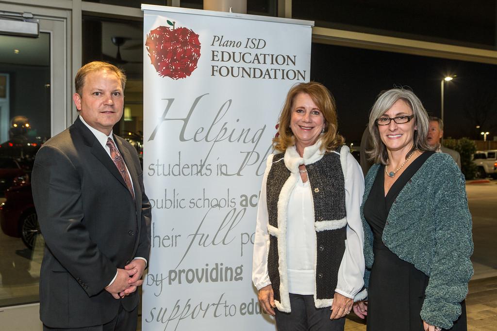 Patrick Jaccar, Jean Callison, Jeanine Alpert Plano ISD Education Foundation