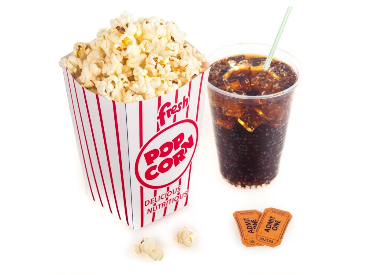 popcorn drink movie tickets