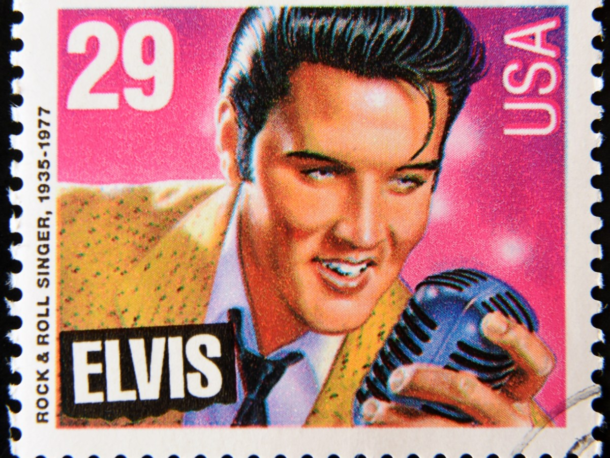 elvis presley stamp rock