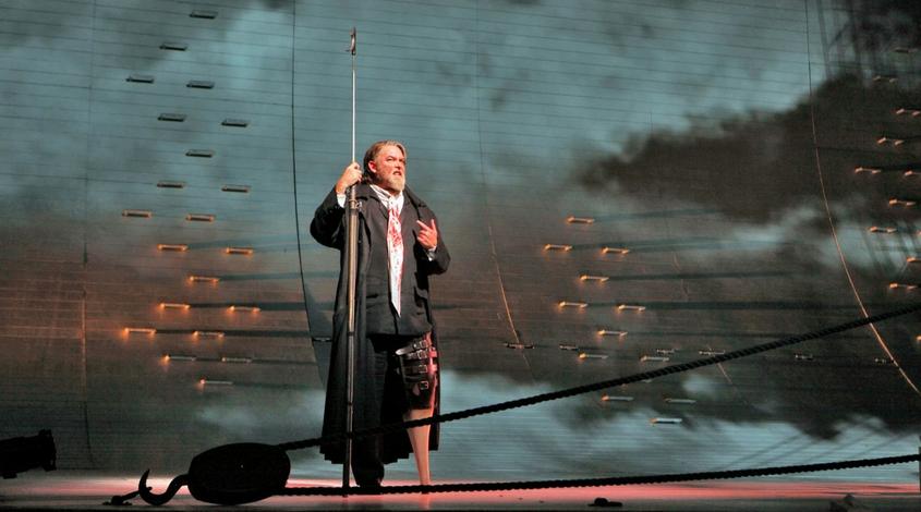 Moby Dick at Dallas Opera Jay Hunter Morris as Captain Ahab   Photo by Cory Weaver