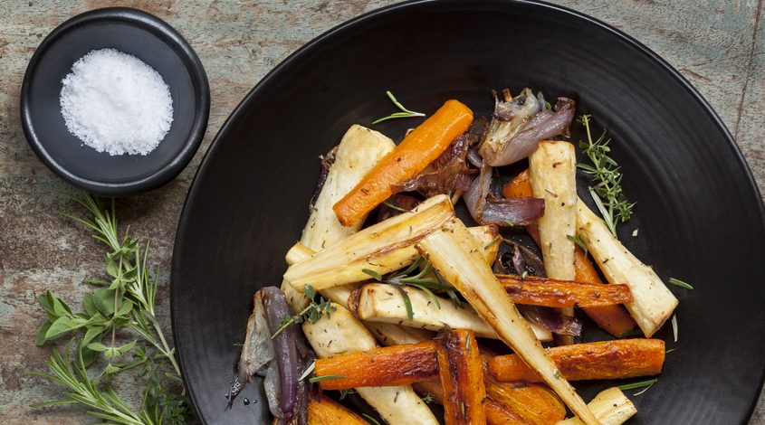Balsamic-Roasted Carrots & Parsnips
