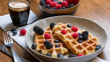 Layered restaurant serves breakfast and lunch, downtown McKinney, waffles, breakfast, lunch,