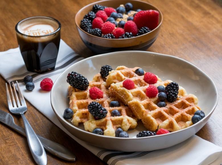 Layered, downtown McKinney, waffles, breakfast, lunch,