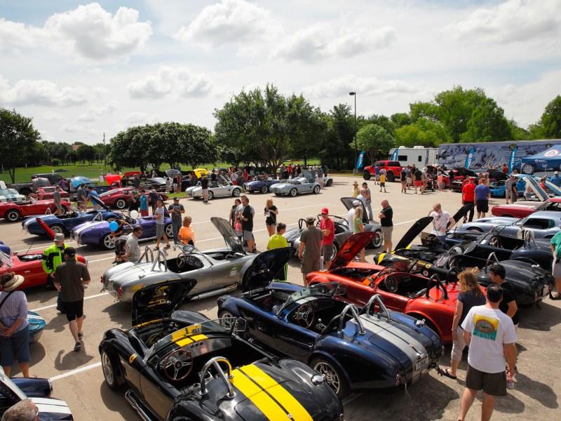 shelby car show at legeacytexas bank, plano