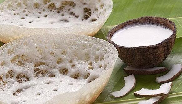 malgudi garden, indian food, plano, tamilnadu, appam