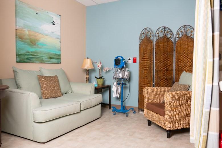 the Serenity Room at Texas Health Presbyterian Hospital Plano Photo: Cori Baker