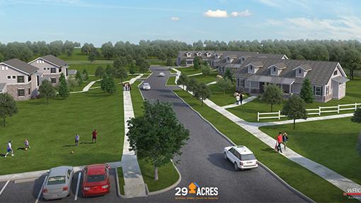 29 acres community development plan