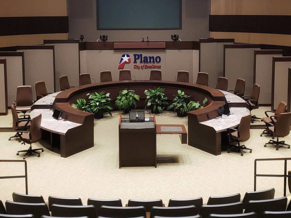 City of Plano city council chambers