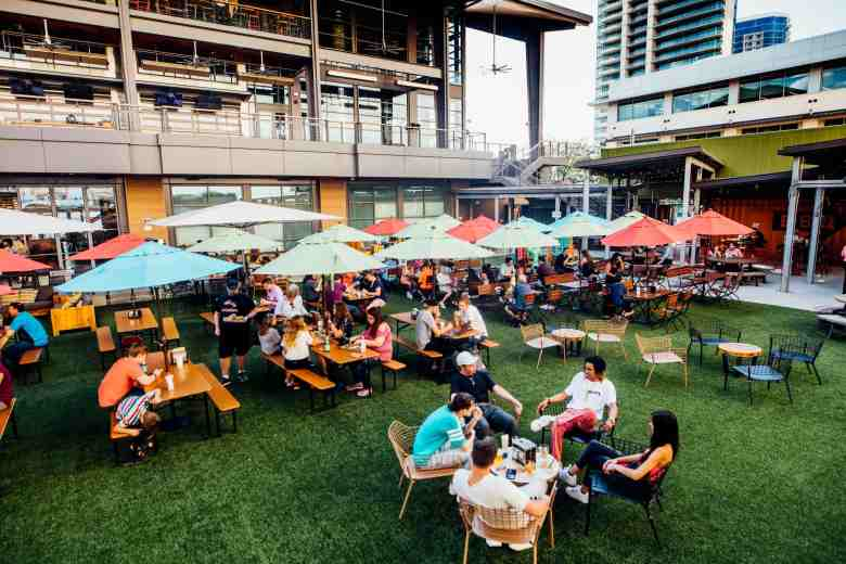the box garden at legacy hall, legacy west, plano, plano patios, best patios in plano, legacy hall, legacy food hall, plano restaurants
