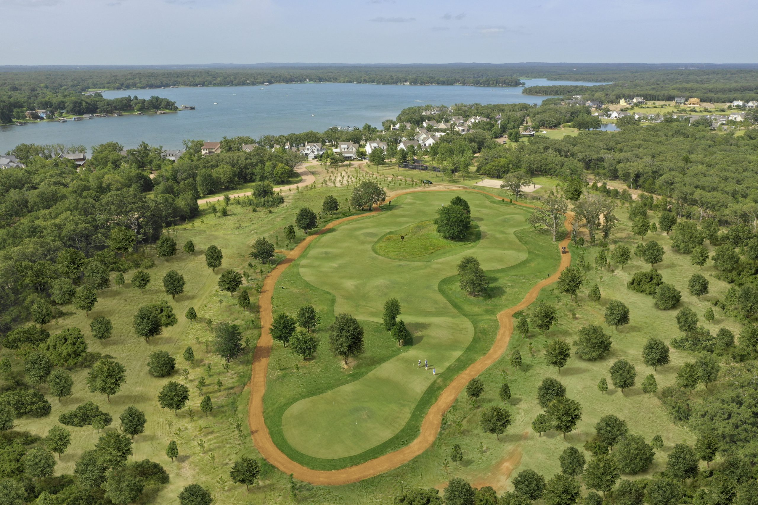 aerial view of walking trails