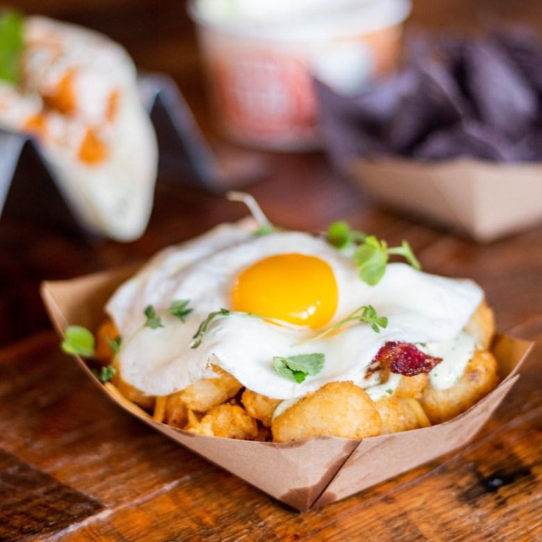 Crispy Tots and Local Egg Velvet Taco