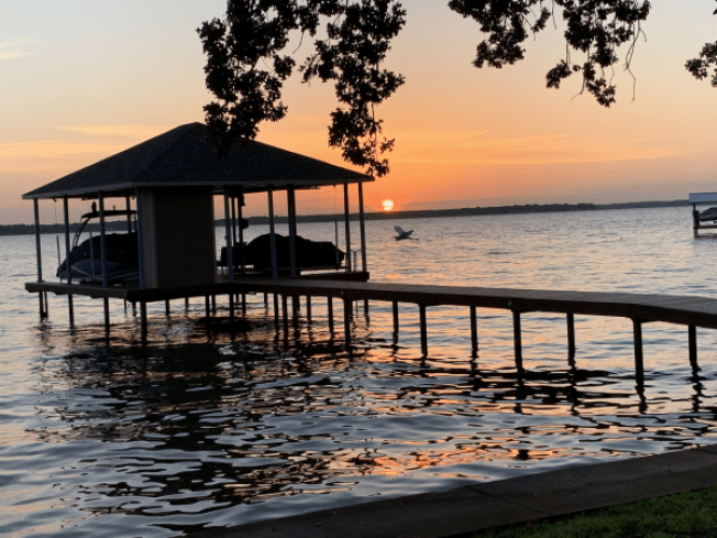 sunsets at texas lakes are hard to beat... like this one at cedar creek lake! | courtesy of cedar creek lake's website