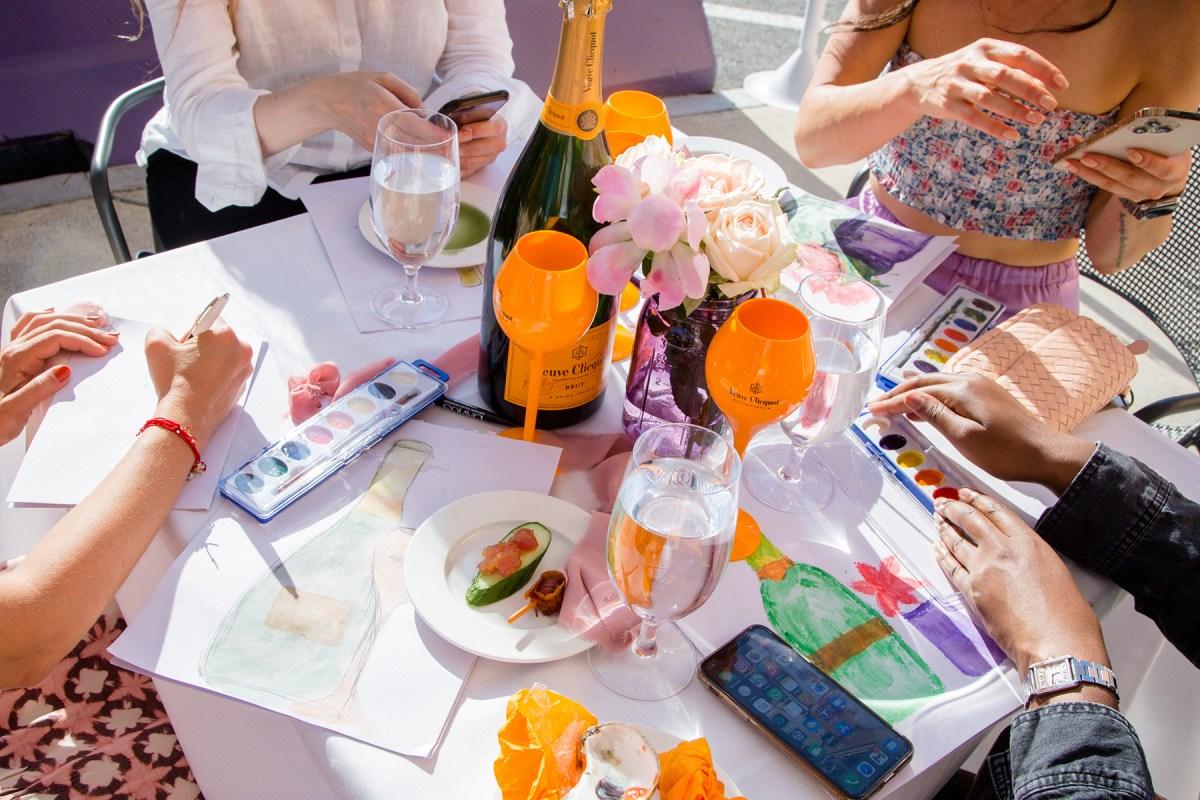 art & champagne at davio's