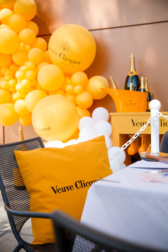"""veuve clicquot will provide the champagne at davio's during the """"art & champagne"""" workshop on august 11."""
