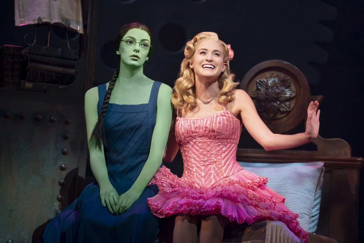 """allison bailey & talia suskauer in the north american tour of wicked (d). an """"august to do"""" for sure!   photo by joan marcus"""