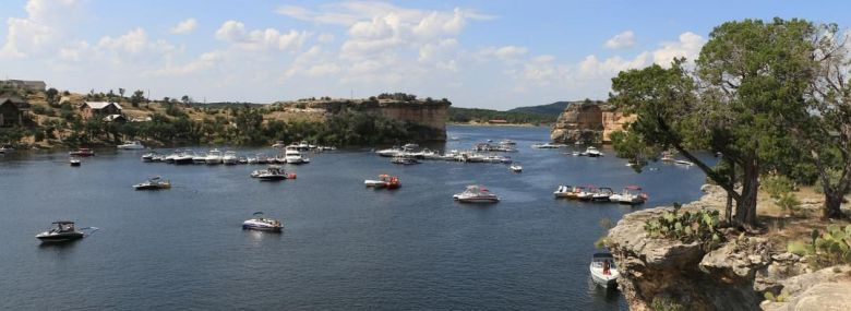 hell's gate at possum kingdom lake. one of the most unique texas lakes! | courtesy of possum kingdom chamber of commerce.