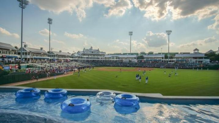 the lazy river overlooking dr. pepper ballpark. add a frisco roughriders game to your august to do's.   visit frisco