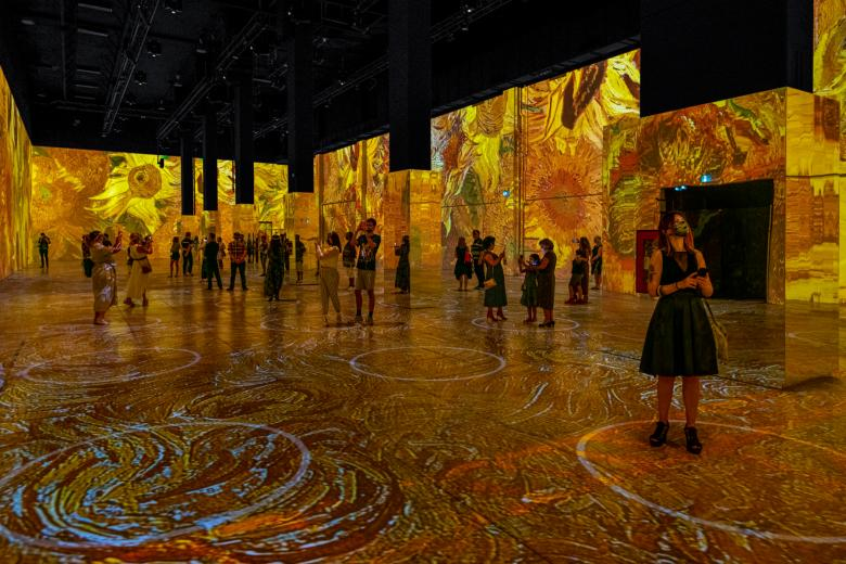 immersive van gogh exhibit in dallas is one a gorgeous thing to do this weekend!