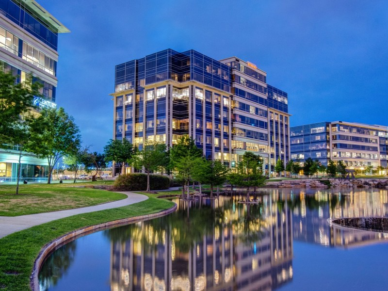 hall park's 162-acre office park contains 2.2 million square feet of office space. it's an ongoing real estate development project across the way from the star. | courtesy of hall group.