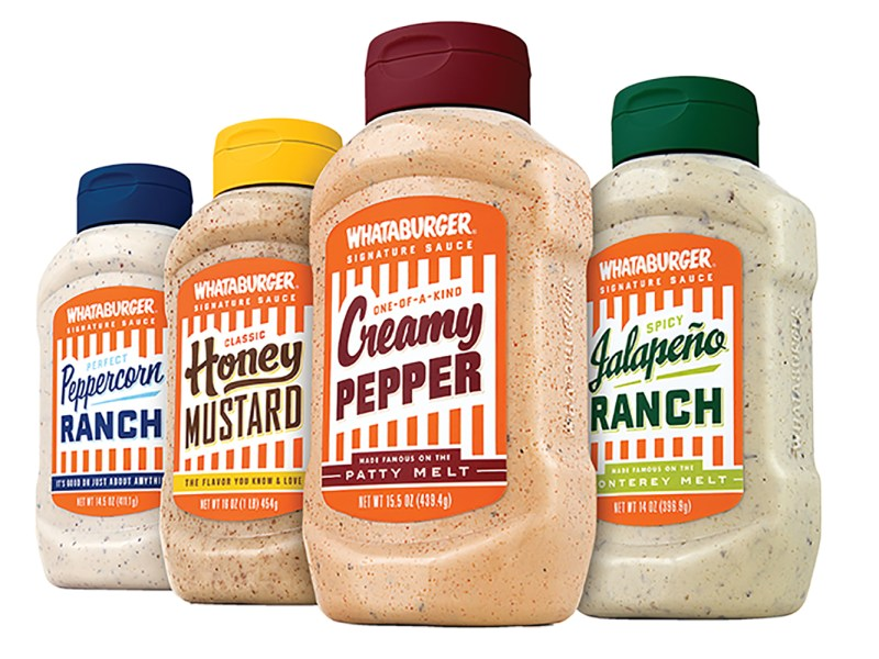 this restaurant product is a must for texans. get your favorite whataburger sauces at h.e.b or central market! | image courtesy of whataburger