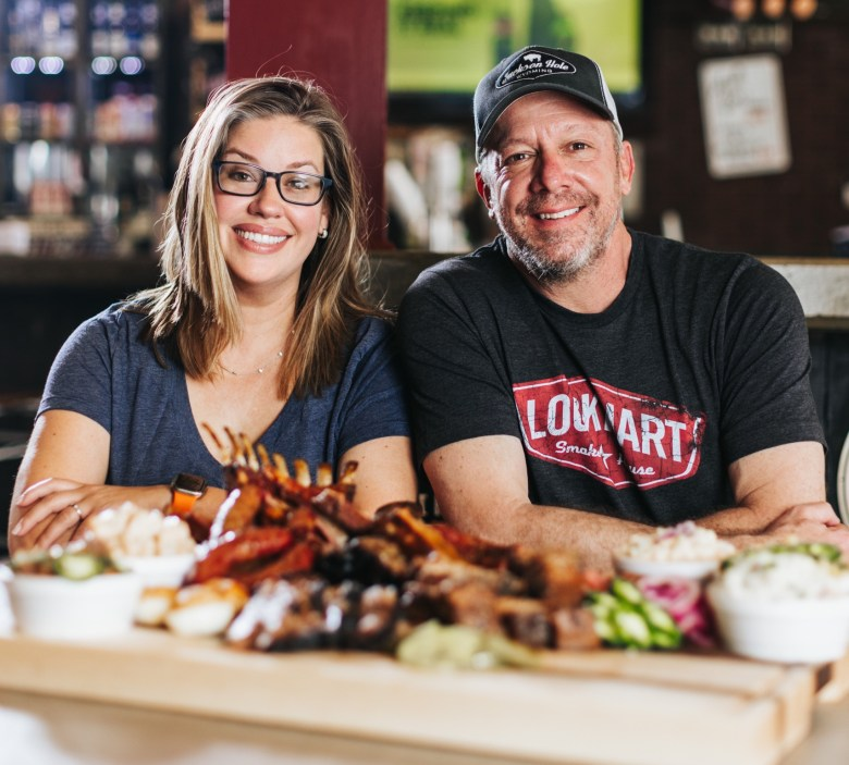 lockhart smokehouse owners jill and jeff bergus will celebrate the restaurant's 10th anniversary this october.
