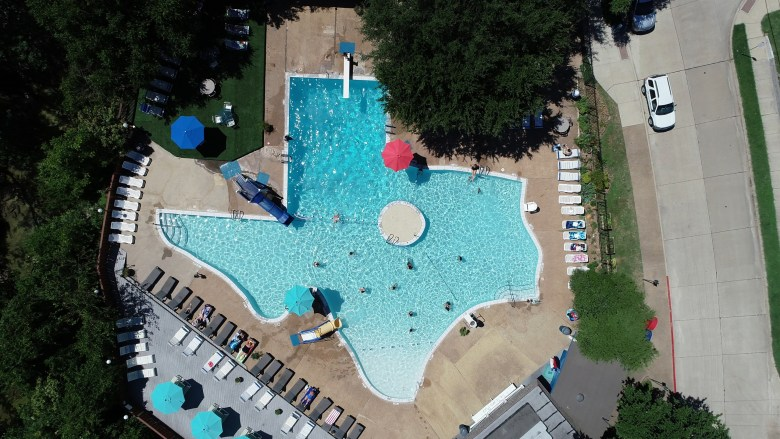 the texas pool has been a favorite of plano-ites for 60 years. it's a cool spot for labor day weekend!   image courtesy of texas pool