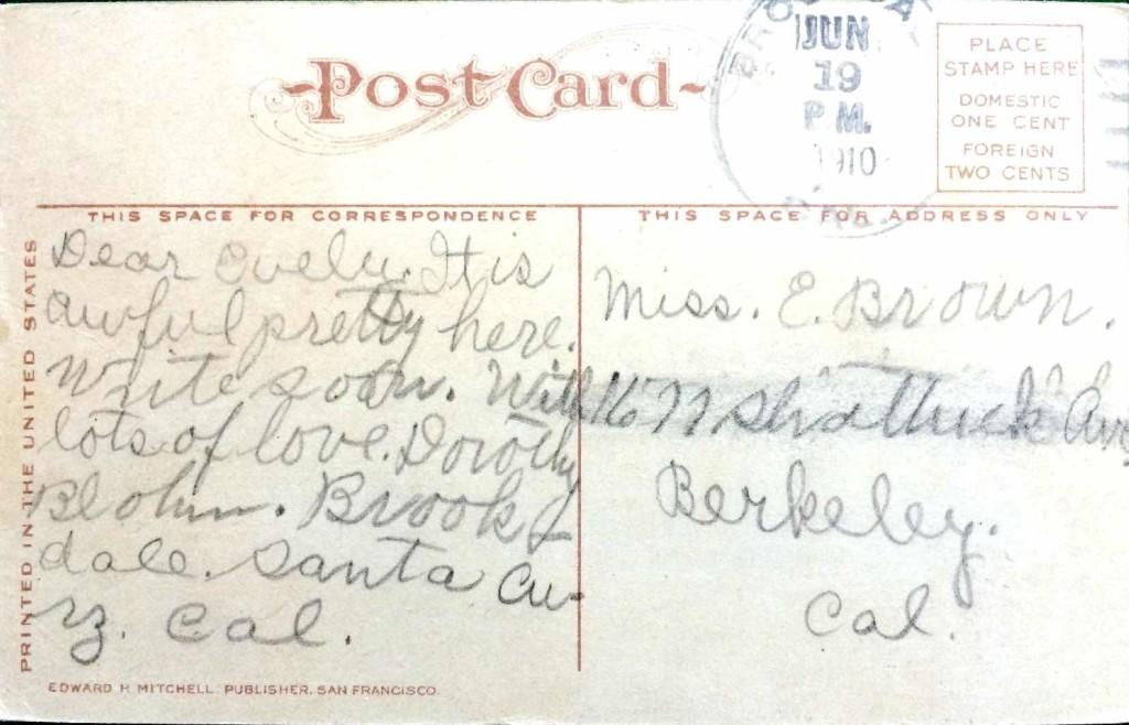 Brookdale Postcard Santa Cruz