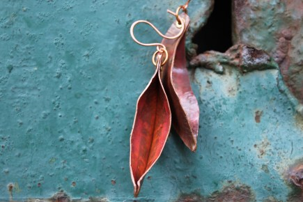 Leaf Earrings by Serene Silva