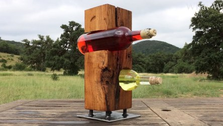 Video : Making a Simple Upright Wine Holder
