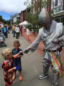 Steelhead the Knight and kids