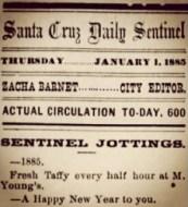 Santa Cruz Sentinel Happy New Years