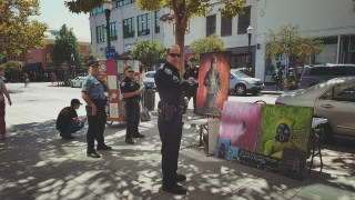 Pacific Avenue Street Artists Ticketed and Jailed