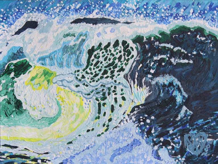 Blue Storm Wave - Sara Sha