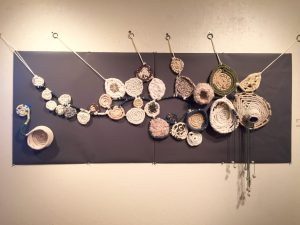 """Flow"" by Laurie McCann. Collaborative piece: JoAnn Witt, Joanna Holt, Nora Grant, Isabel Severi."