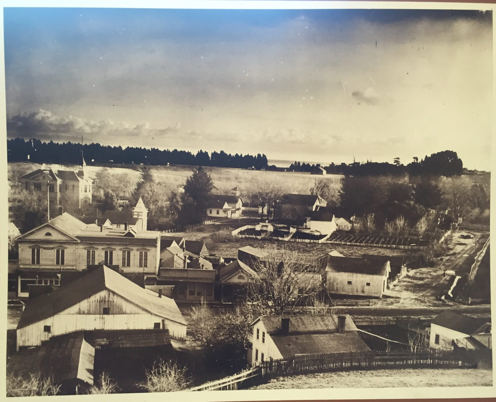 Soquel with the Monterey Bay in the distance, 1900.