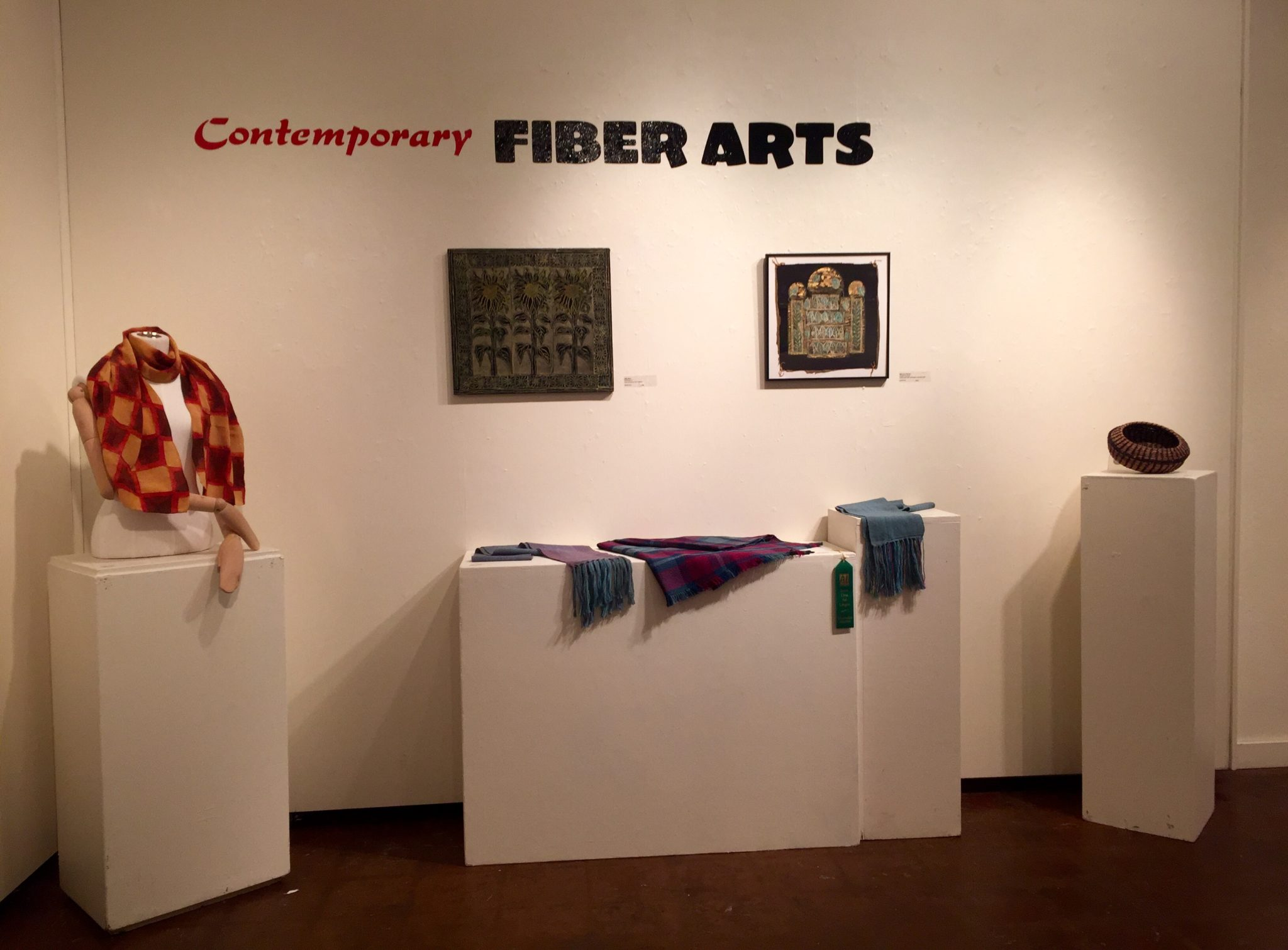 Contemporary Fiber Arts Exhibit at the Santa Cruz Art League.